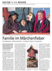 Märchenfescht in der BZ am 25.4.2015