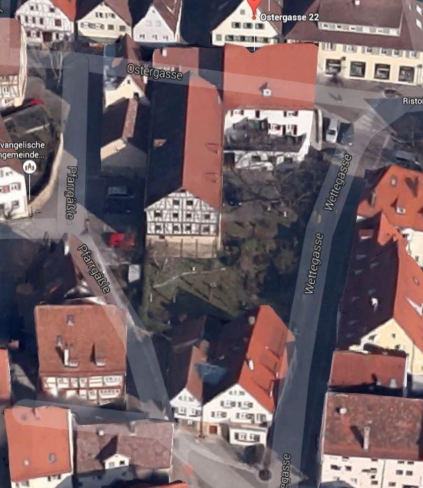 Der Apothekergarten in Markgröningen. Foto: Google-Earth